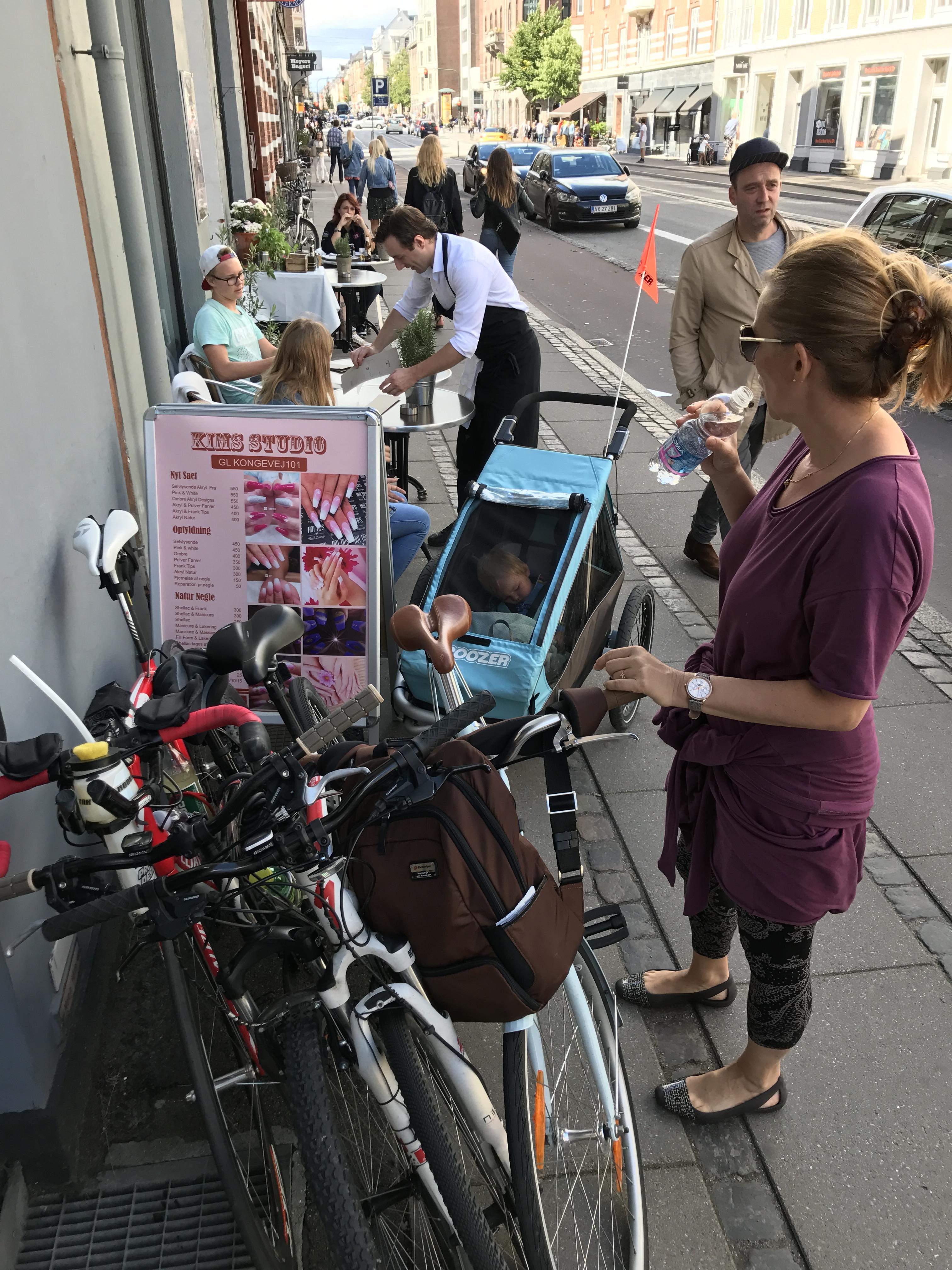 rowery przy restauracji